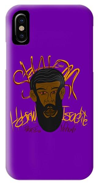 Hebrew Shalom 1 IPhone Case