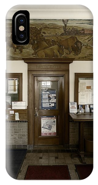 Hebron Nebraska Post Office Mural IPhone Case
