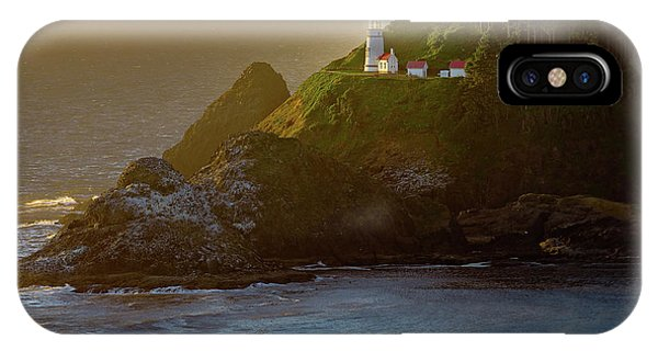 Heceta Head Lighthouse At Sunset IPhone Case