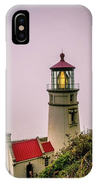 Heceta Head Lighthouse In The Fog IPhone Case