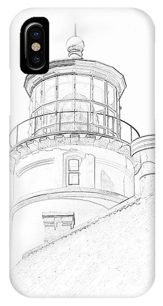 Hecitia Head Lighthouse Sketch IPhone Case