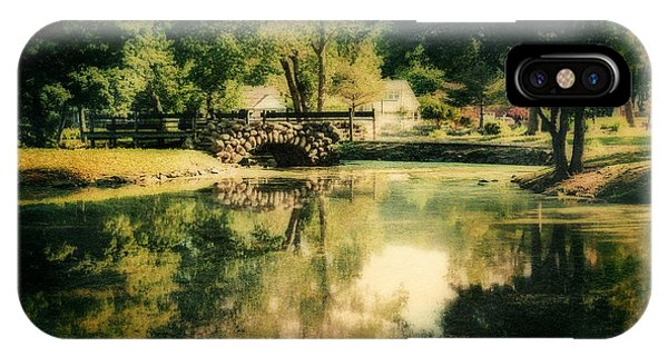 Heckscher Park Pond, Huntington Ny IPhone Case