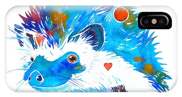 Hedgehog With Heart IPhone Case