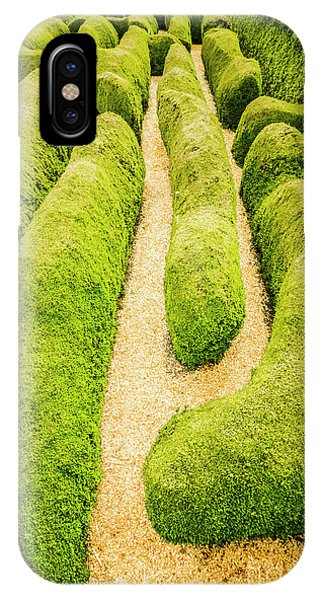 Garden Wall iPhone Case - Hedging An Escape by Jorgo Photography - Wall Art Gallery