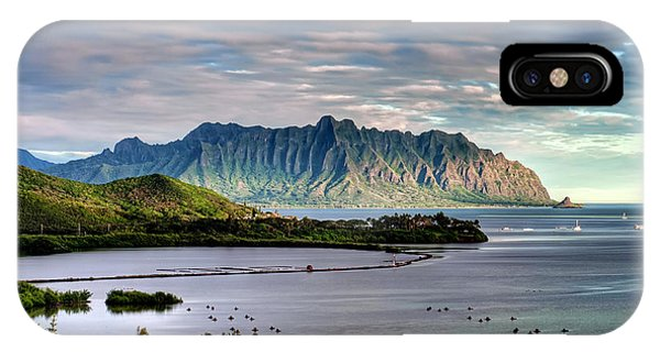 Oahu iPhone Case - He'eia Fish Pond And Kualoa by Dan McManus