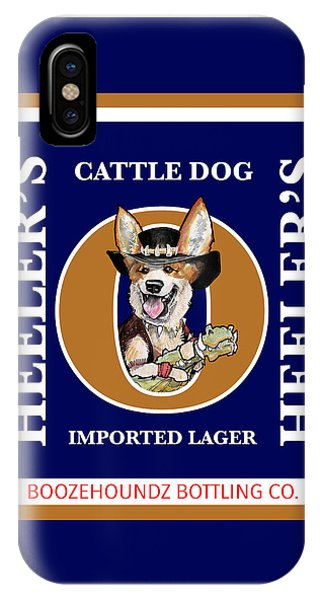 Pub iPhone Case - Heeler's Cattle Dog Imported Lager by John LaFree