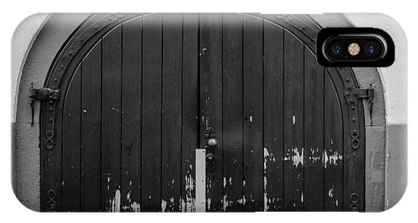 Custom Made iPhone Case - Heidelberg Cellar Door B W by Teresa Mucha