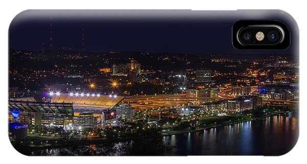 Heinz Field At Night From Mt Washington IPhone Case