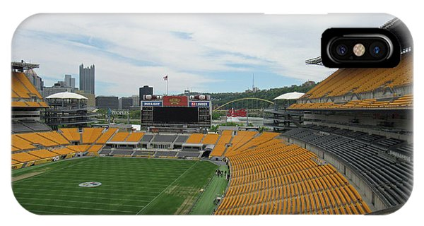 Heinz Stadium With Pittsburgh Skyline IPhone Case