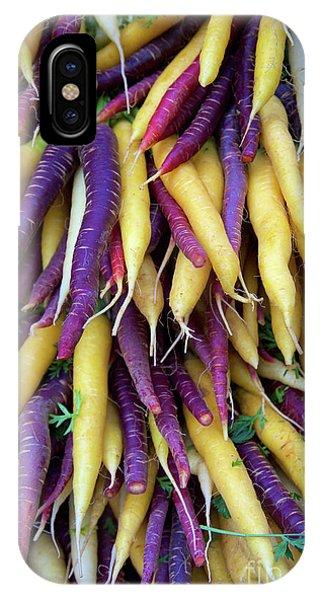 Heirloom Rainbow Carrots IPhone Case