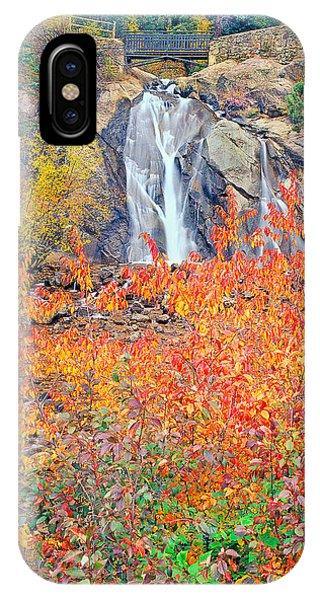 Helen Hunt Falls Autumn V Bridge IPhone Case