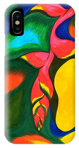 Heliconia Rostrata Phone Case by Fanny Diaz