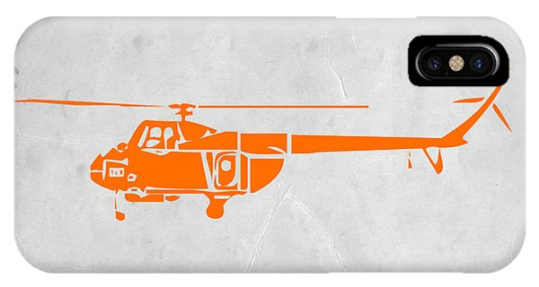 Helicopter iPhone X Case - Helicopter by Naxart Studio