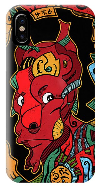 IPhone Case featuring the digital art Hell by Sotuland Art