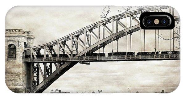Hellgate Bridge In Sepia IPhone Case