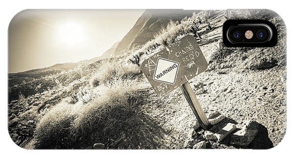 IPhone Case featuring the photograph Hellhole Canyon Warning by T Brian Jones
