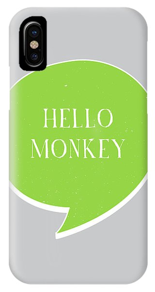 Thought iPhone Case - Hello Monkey by Samuel Whitton