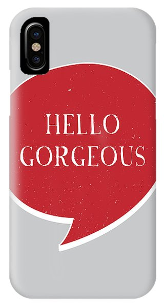 Thought iPhone Case - Hello Gorgeous by Samuel Whitton