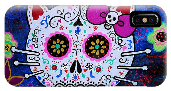 Kitty Day Of The Dead IPhone Case