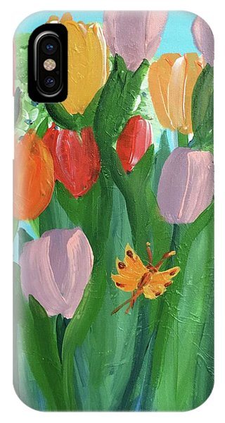 Hello Spring Tulips IPhone Case