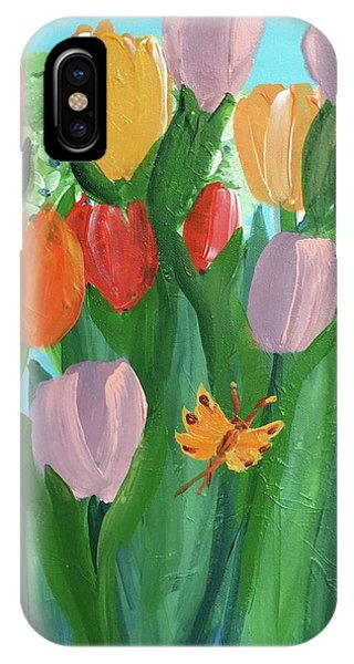 Hello Spring Tulips IPhone Case