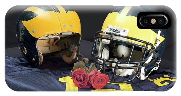 Helmets Of Different Eras With Jersey And Roses IPhone Case