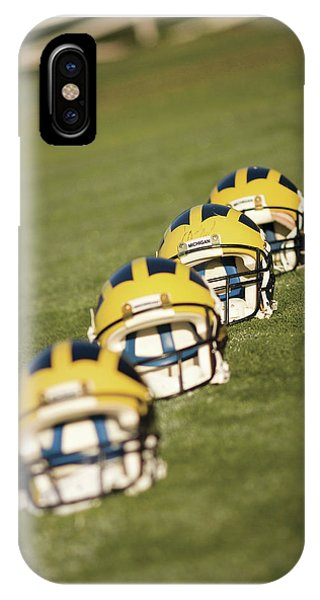 Helmets On Yard Line IPhone Case