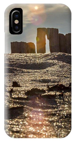 Helvick Beach Wooden Barrier 2 IPhone Case