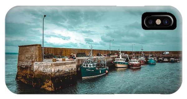 Helvick Harbour 2 IPhone Case