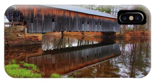 Hemlock Covered Bridge Fryeburg Maine IPhone Case