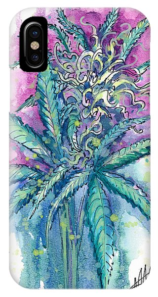 IPhone Case featuring the painting Hemp Blossom by Ashley Kujan