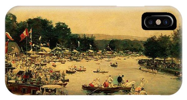 1877 iPhone Case - Henley Regatta by James Jacques Joseph Tissot