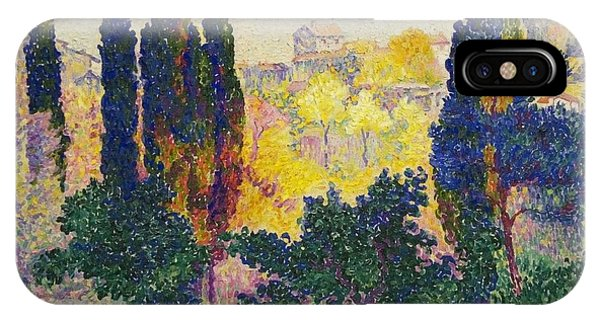Henri Edmond Cross French Les Cypres A Cagnes IPhone Case