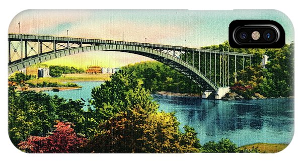 Henry Hudson Bridge Postcard IPhone Case