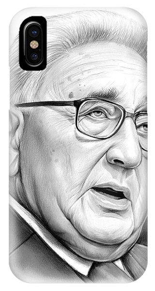 United States Presidents iPhone Case - Henry Kissinger by Greg Joens