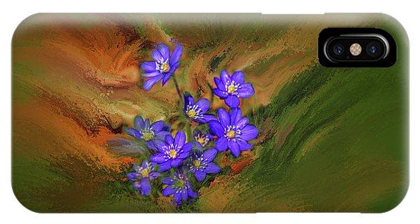 Hepatica Nobilis Painterly #h4 IPhone Case