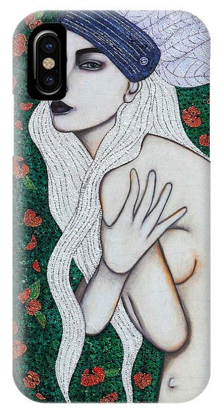 IPhone Case featuring the mixed media Her Heart Was Wild by Natalie Briney