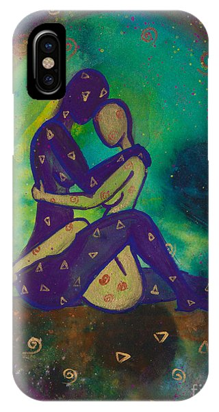 Lgbt iPhone Case - Her Loves Embrace Divine Love Series No. 1006 by Ilisa Millermoon