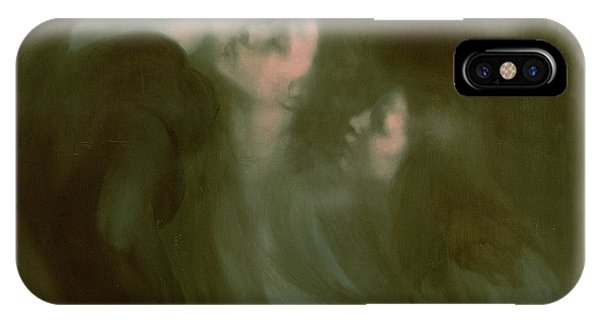 Ghost iPhone Case - Her Mother's Kiss by Eugene Carriere