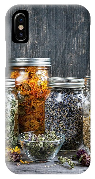 IPhone Case featuring the photograph Herbs In Jars by Elena Elisseeva