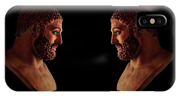 IPhone Case featuring the mixed media Hercules - Brunettes by Shawn Dall