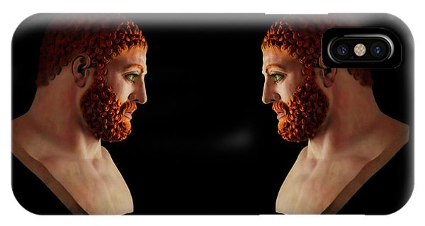IPhone Case featuring the mixed media Hercules - Gingers by Shawn Dall
