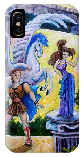Hercules Pegasus And Meg Phone Case by Sebastian Pierre