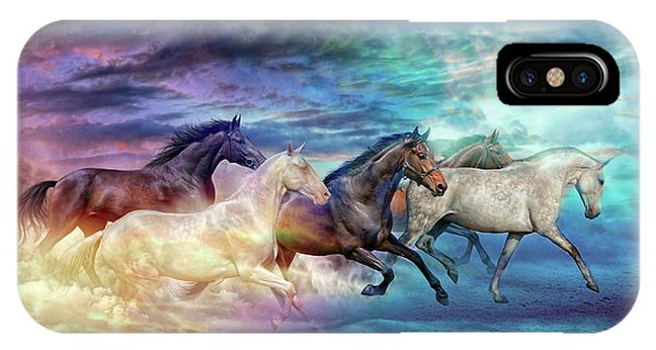 Herd Of Horses In Pastel IPhone Case