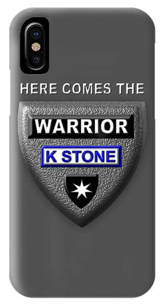 iPhone Case - Here Comes The Warrior by K STONE UK Music Producer