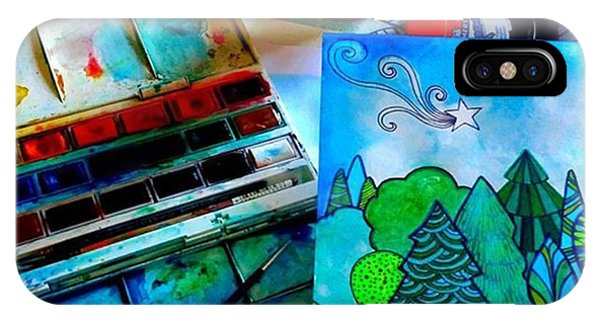 Green iPhone Case - Here Is My Newest Watercolor And Ink by Robin Mead