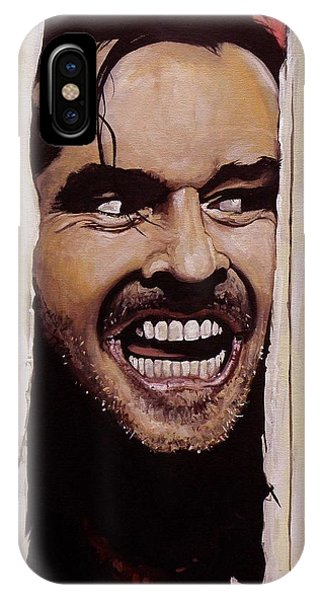The iPhone X Case - Here's Johnny by Tom Carlton