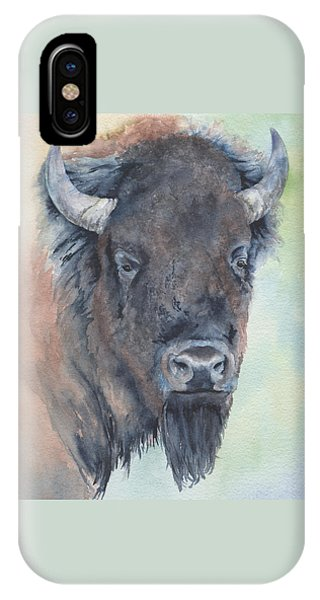 Here's Looking At You - Bison IPhone Case