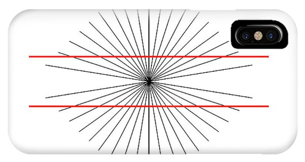 Visual Illusion iPhone Case - Hering Illusion by