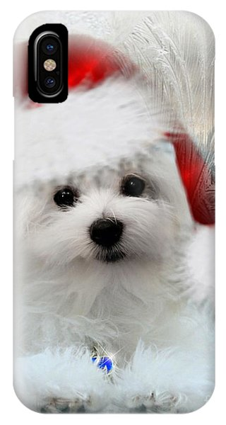 Hermes The Maltese At Christmas IPhone Case